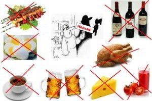 Запрещенные продукты при подагре