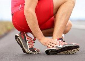 Сильная боль в стопе при растяжении связок